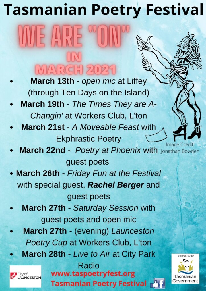 Tas poetry festival overview of events