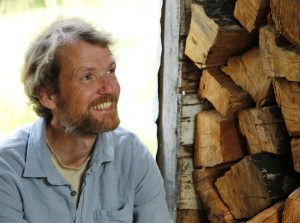 Tim Slade in his woodshed